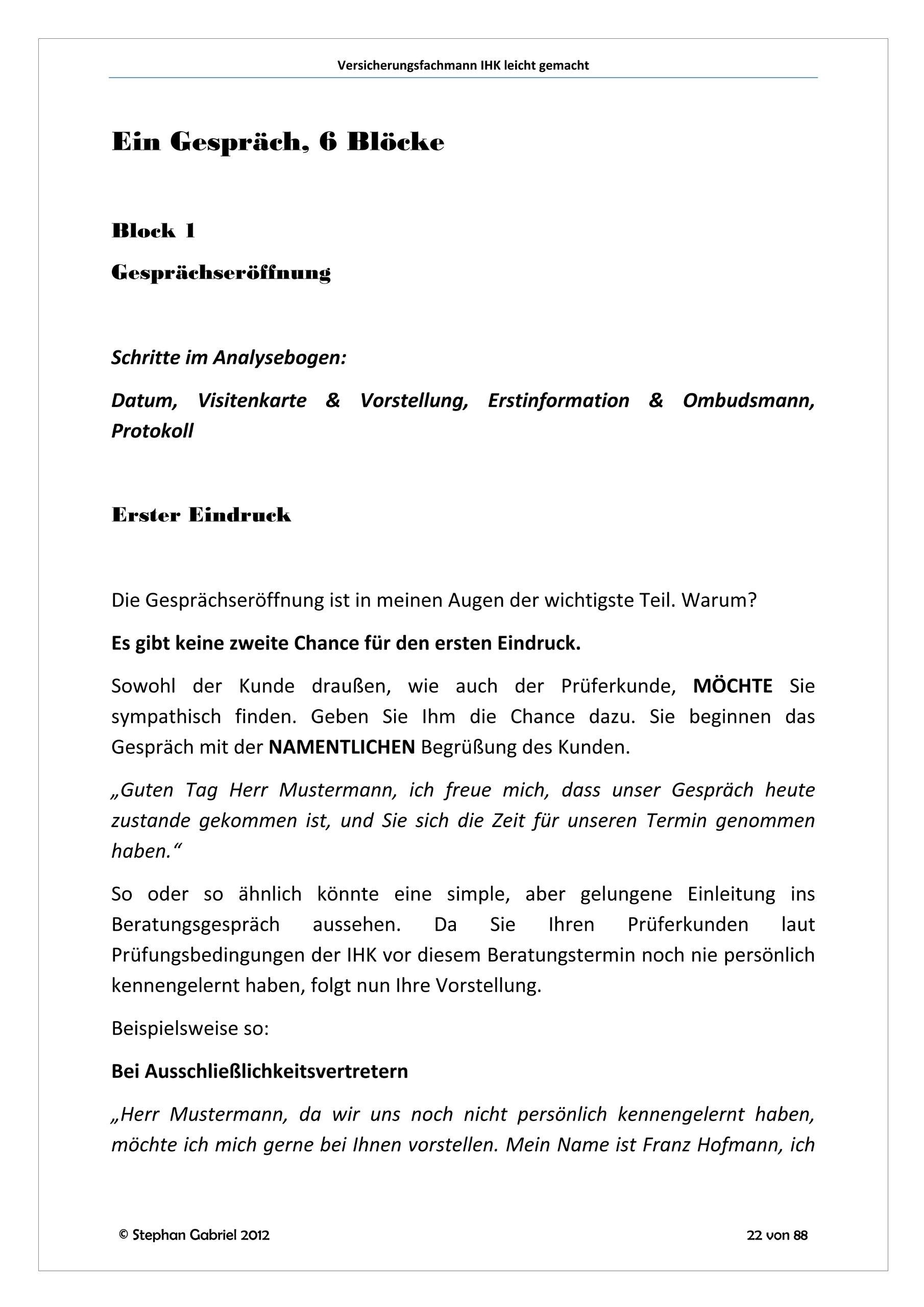 Versicherungsfachmann IHK leicht gemacht 2012