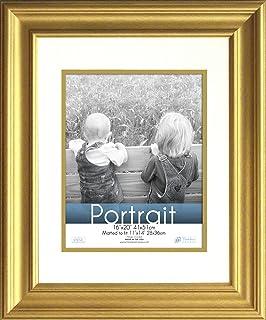 timeless frames 16x20 inch fits 11x14 inch photo lauren portrait wall frame gold