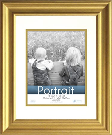 timeless frames 16x20 inch fits 11x14 inch photo lauren portrait wall frame gold