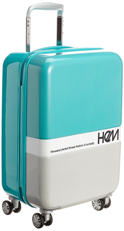 [ヘム] HeM スーツケース キャビンサイズ TSAロック ジッパータイプ フラスコS  ペパーミントブルー B00YIE66K2