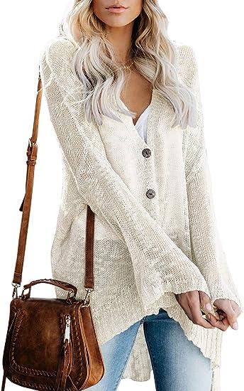 Women Knit Cardigan Sweater Shrug Crop Top Coat 3//4 Sleeve Button Down Sheer