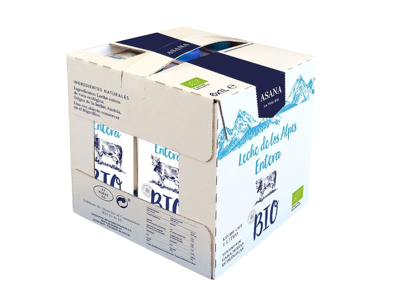Asana Leche Ecológico UHT - Paquete de 6 x 1000 ml - Total: 6000 ml: Amazon.es: Alimentación y bebidas