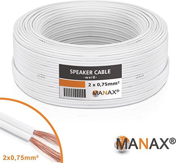 Manax Sc2075w 50 Lautpsrecherkabel 2x0 75 Mm Cca Elektronik