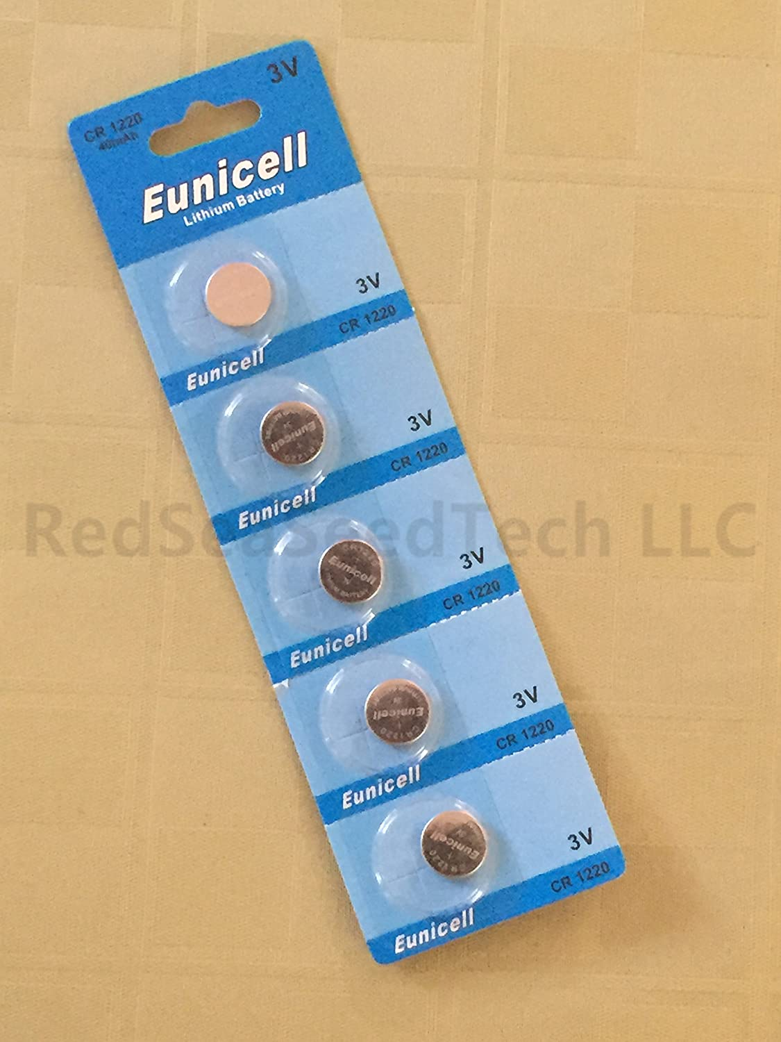 Eunicell CR1220 5012LC Lithium Blister Pack 3V 3 Volt Coin Cell Batteries 20 pcs