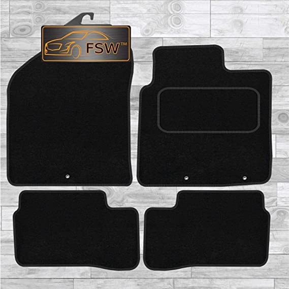 2011-2017 CLIPS - Carpet Rubber Kia Picanto Fully Tailored Car Floor Mats