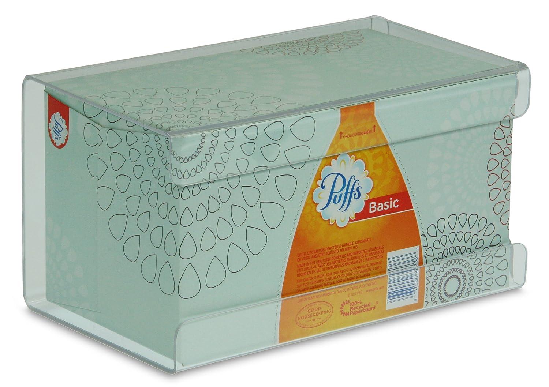 TrippNT 51140 Plastic Wall Mountable Kleenex Box Holder, 9-1/2' Width x 5-1/4' Height x 5' Depth, Large, Clear 9-1/2 Width x 5-1/4 Height x 5 Depth