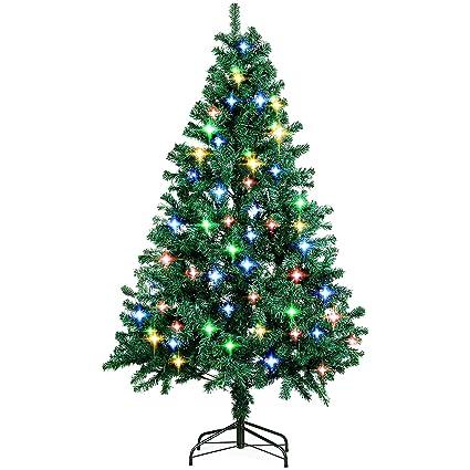 amzdeal Árbol de Navidad Artificial con Brillante LED 4 Colores ... 804061894e31f