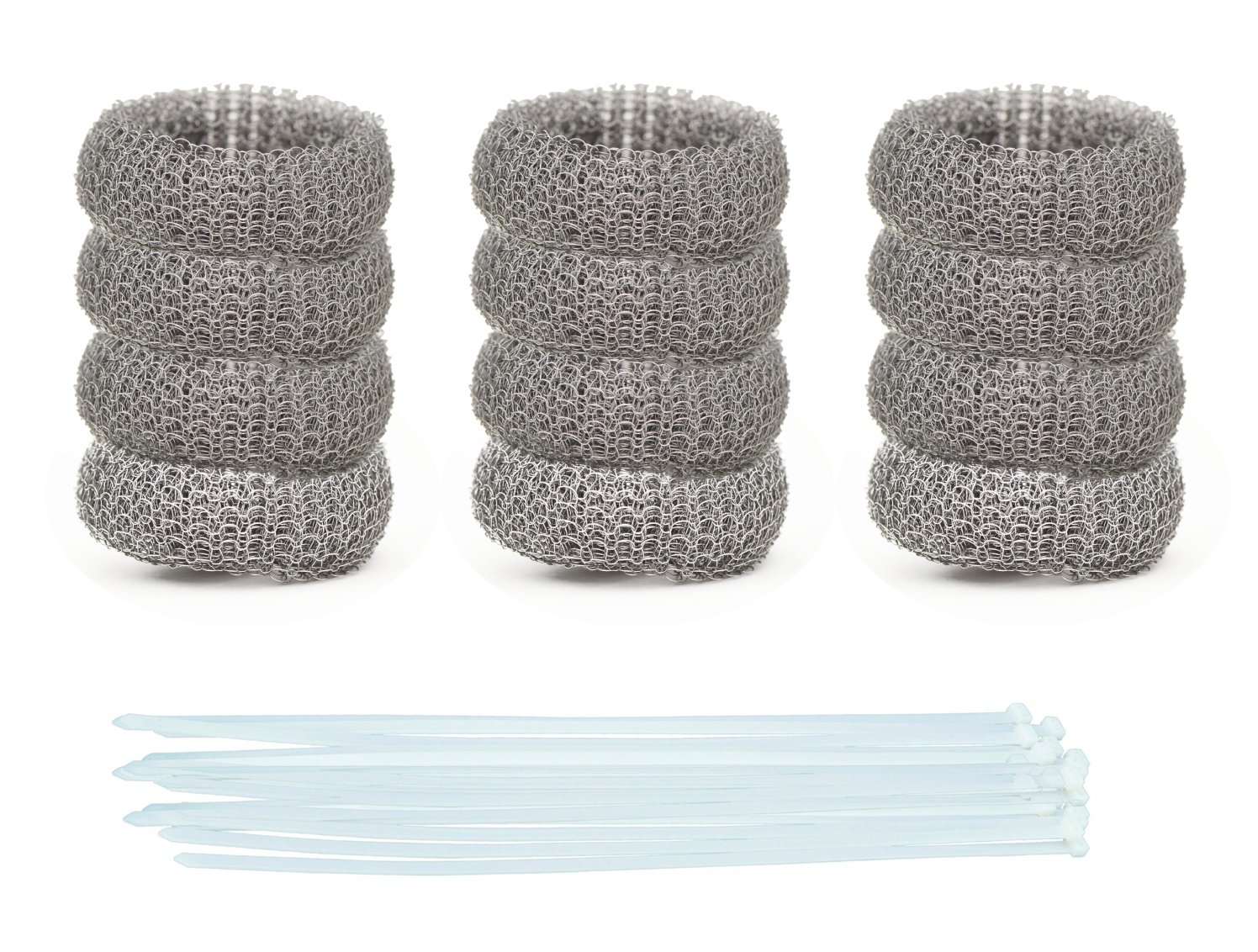 Pack of 50 Washing Machine Lint Traps Premium Snare and Rustproof Stainless Steel Mesh with Clamps by DR Quality Parts
