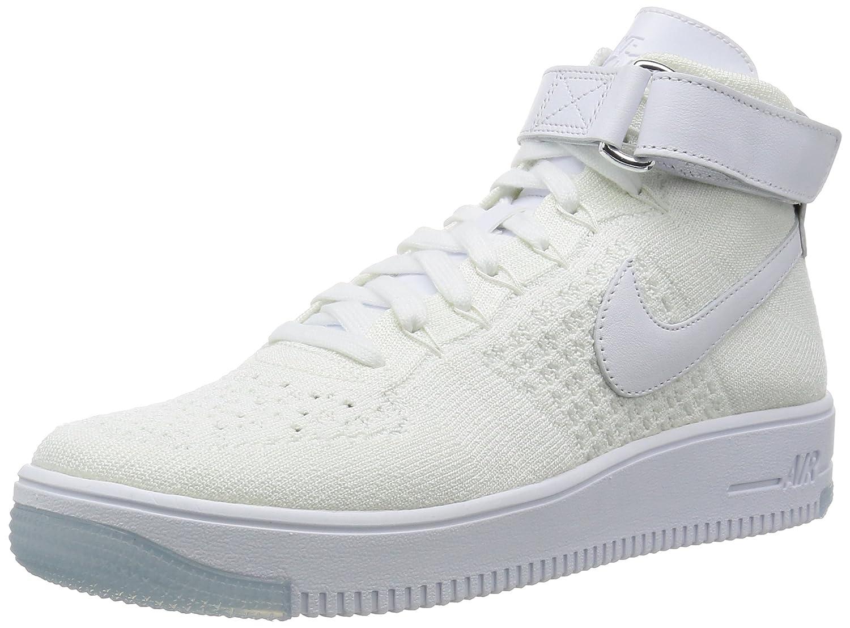 Nike Mens AF1 Ultra Flyknit Mid Basketball Shoe  125 B(M) US|Blanco (White / White)
