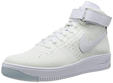 huge discount ab8c6 e185f Nike AF1 Ultra Flyknit Mid Mens Trainers 817420 Sneakers Shoes (US 8, White  White