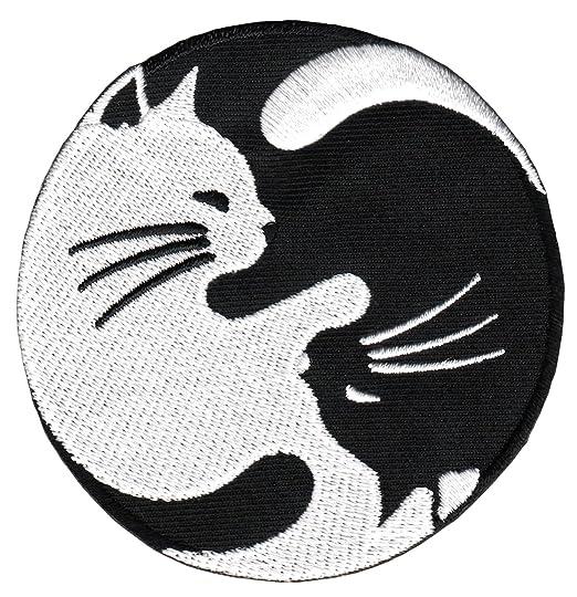 Yin Yang Gato Blanco Y Negro Yoga Parche Plancha de ...