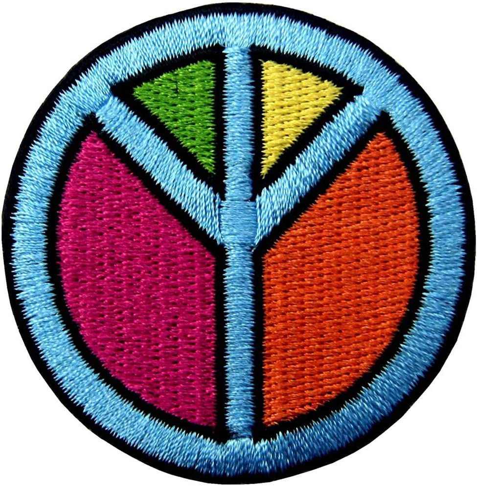 Ricamate patch Hippie Flower Power peace pace