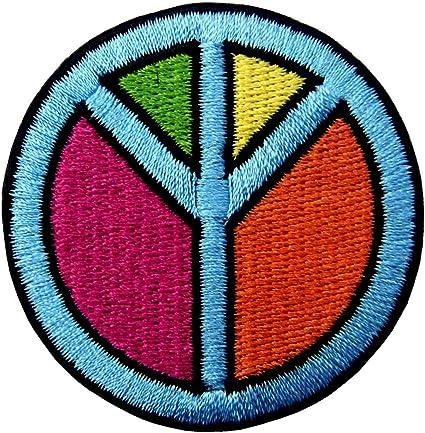 Paix Signe Hippie Retro Boho Flower Power Weed Love Applique iron on patch