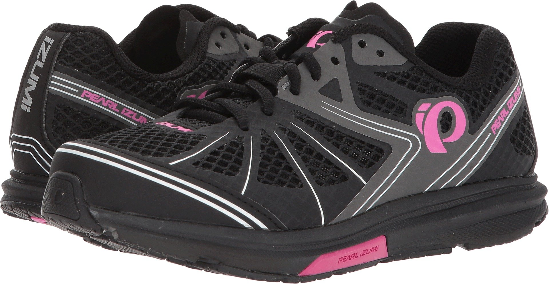 Pearl iZUMi Womens X-Road Fuel IV Black/Pink Glo 38 (US Women's 6.80) B - Medium