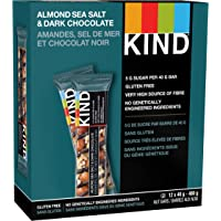 KIND Bars Almond Sea Salt Dark Chocolate 12ct, Gluten Free, 40g