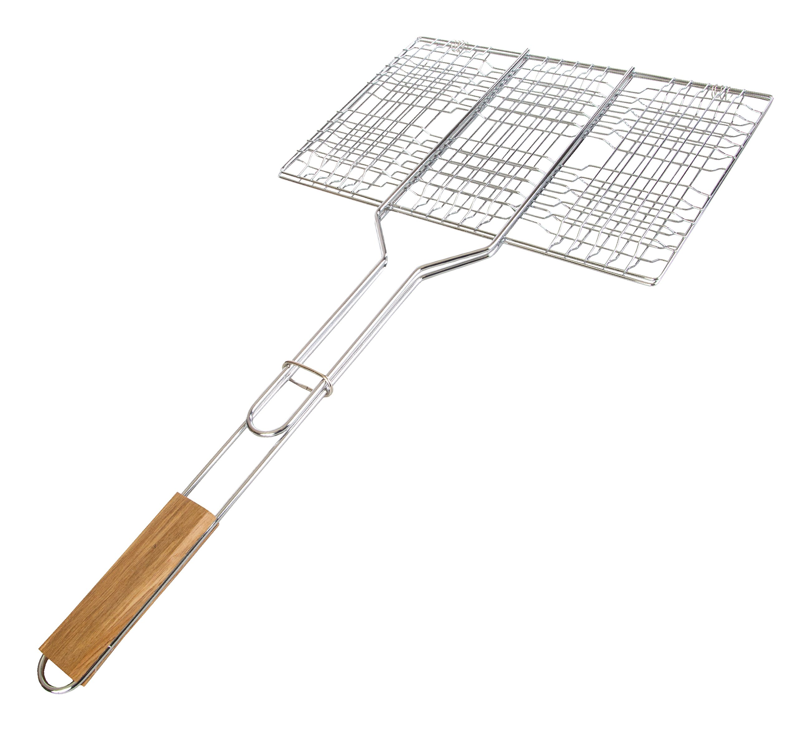 Stansport Deluxe Camp Cooking Broiler Basket (13.5x9x1-Inch)