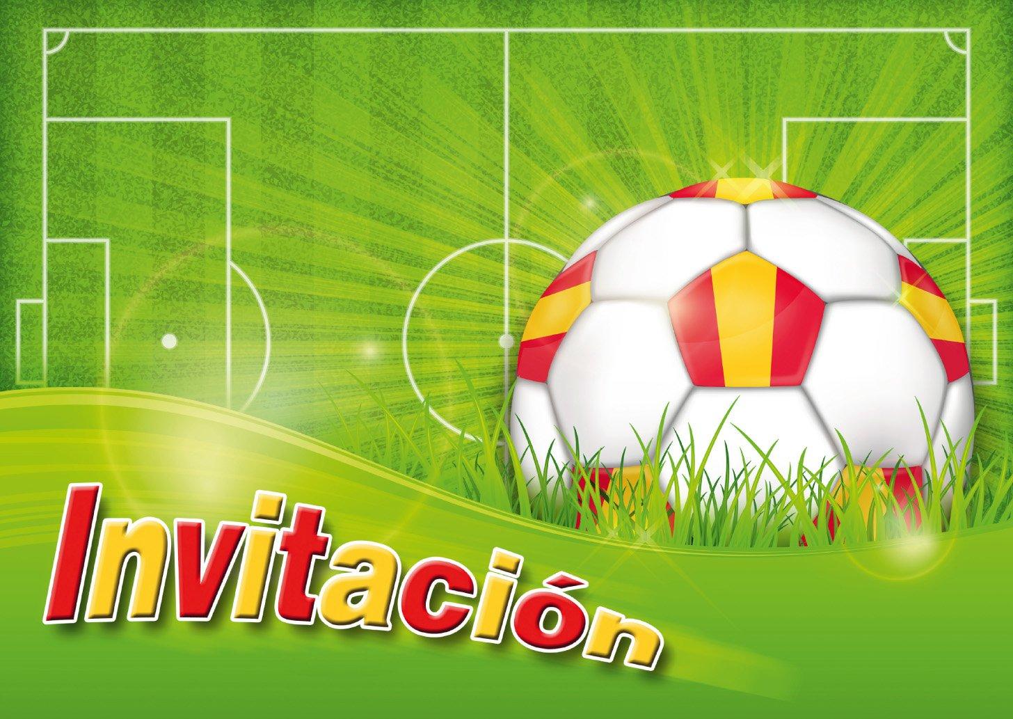 """Edition Colibri 12 Invitaciones en español """"Futbol"""": Juego de 12 Invitaciones al Futbol para cumpleaños Infantil o Fiesta (10960 ES)"""