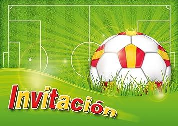 Edition Colibri 10 Invitaciones En Español Futbol Juego De 10 Invitaciones Al Futbol Para Cumpleaños Infantil O Fiesta 10960 Es