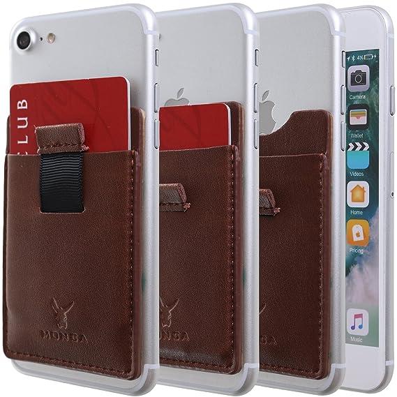 8a592ecc66a3 Amazon.com: Monca [Pull Tab] Genuine Leather Credit Card Holder ...