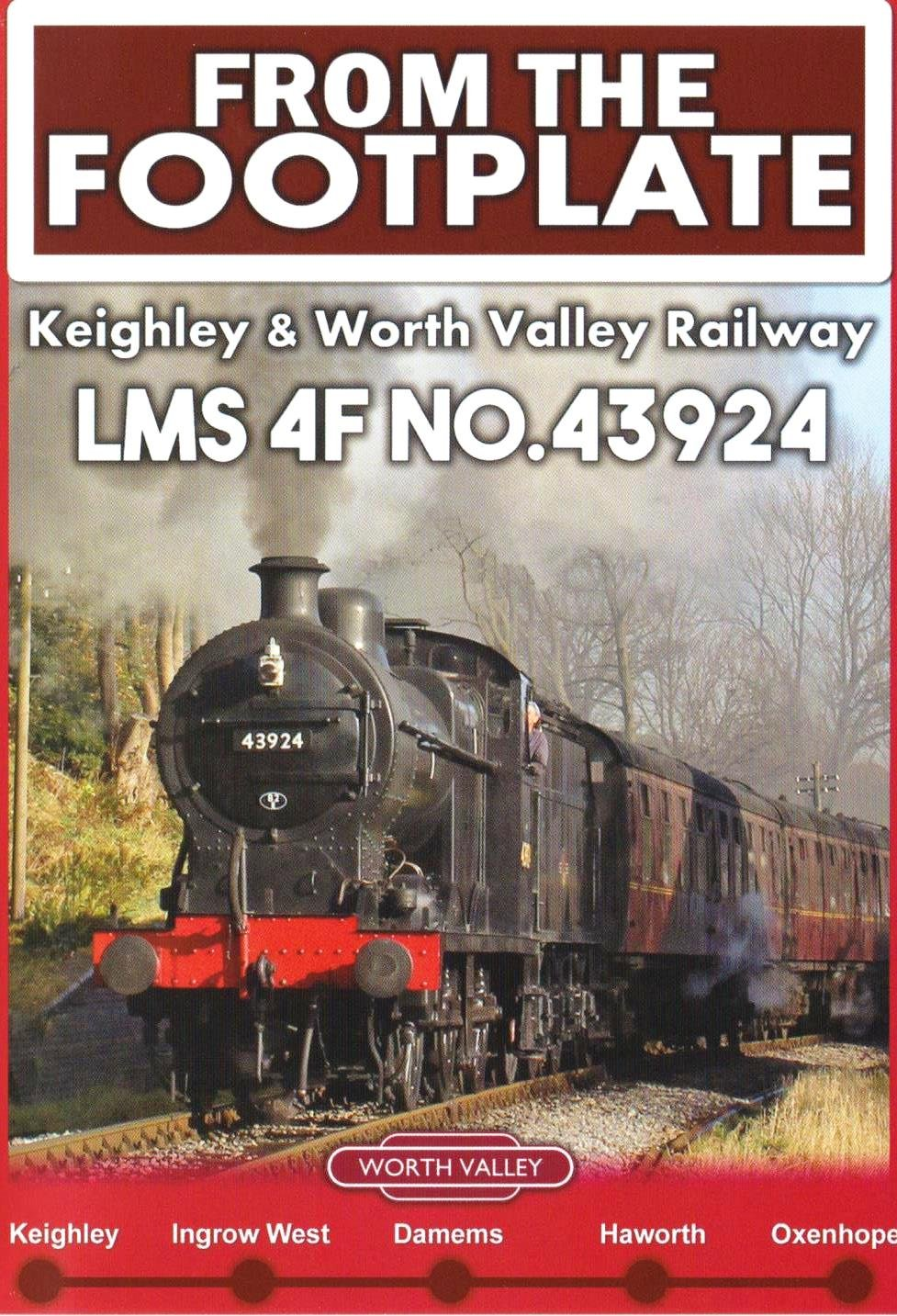 From the Footplate Dvd: Keighley & Worth Valley Railway LMS 4F No. 43924:  Amazon.co.uk: DVD & Blu-ray