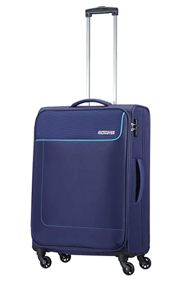 Amazon.com | American Tourister Funshine 4 Roues 66/24 Valise, 66 cm, 63, 5 L, Orion Blue | Suitcases