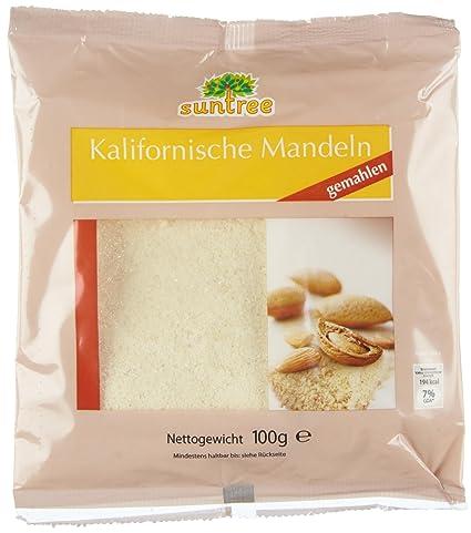 Selection Mandeln blanchiert, gemahlen, 25er Pack (25 x 100 g Beutel ...