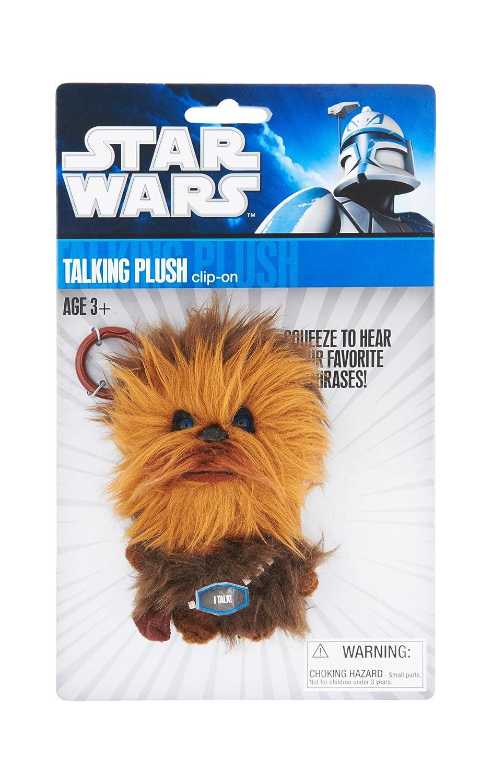 Joy Toy 100261 - Star Wars Llavero con Peluche parlante Chewbacca en Expositor (10 cm) - Star Wars - Llavero - Chewbacca Peluche con Sonido