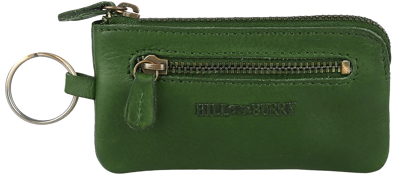 Poche pour clés / Etui à clés en cuir 'Hunter' huilé (tout en cuir), Modell 3495, couleur:Vert