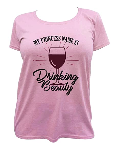 8f0b9139 Amazon.com: Funny Vacation Shirts My Princess Name is Drinking Beauty  Royaltee Wine Lover Collection: Clothing