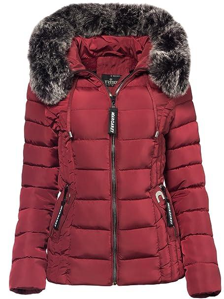 meet 2a274 a7321 Trisens Damen Winter Jacke Pelz Kapuze KURZ Mantel SKI Jacke DAUNEN Optik