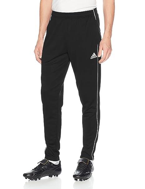 60803e235 adidas Men's Soccer Core 18 Training Pants, Black/White, X-Small