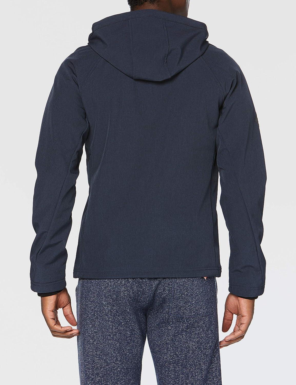 Superdry Hooded Softshell Giacca Uomo Blu (Navy Marl 97t) s2xEZ