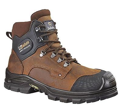 d7e6936aeadd45 Jallatte Jalirok S3 Cuir Marron Vibram Acier Embout de sécurité à Lacets  pour Homme Bottes de Travail: Amazon.fr: Chaussures et Sacs