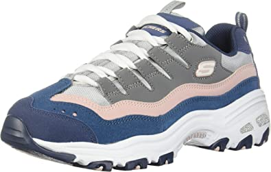 Skechers Women's D'Lites Sure Thing Low Top Sneaker Shoes