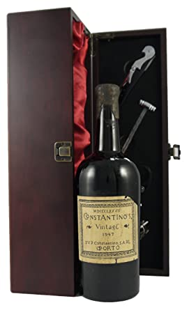 1947 constantino s vintage port presented in a silk lined wooden box