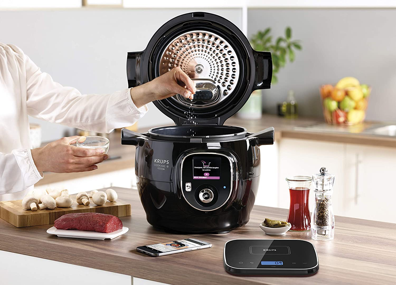 Krups Cook4Me+ Grameez CZ8568 1600 - Robot de cocina, color negro y gris: Amazon.es: Hogar