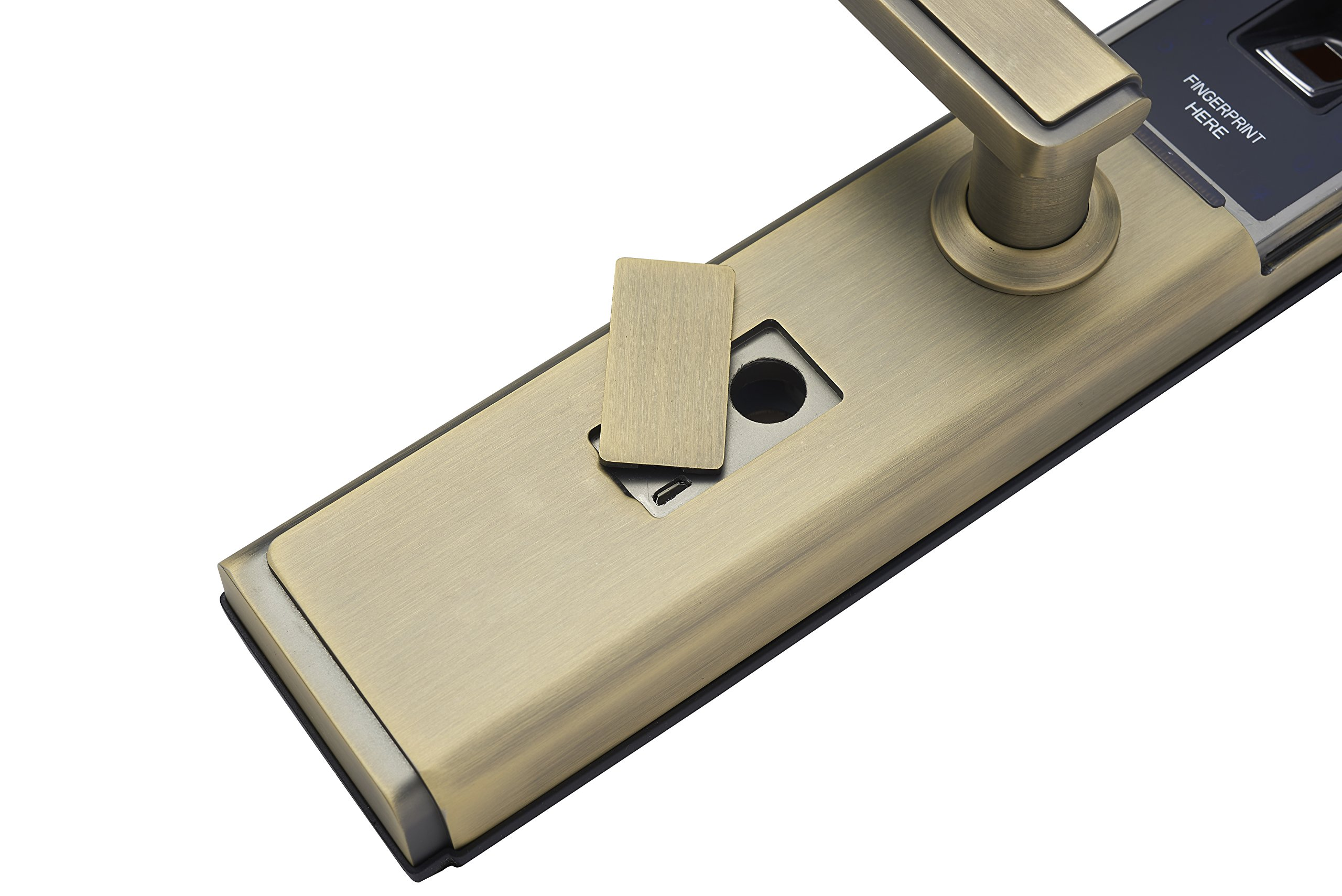 LEGU Fingerprint and Touchscreen Keyless Smart Lever Lock for Door fingerprint+password+card+key/Security intelligent anti-theft lock (Left handed) by LEGU (Image #3)