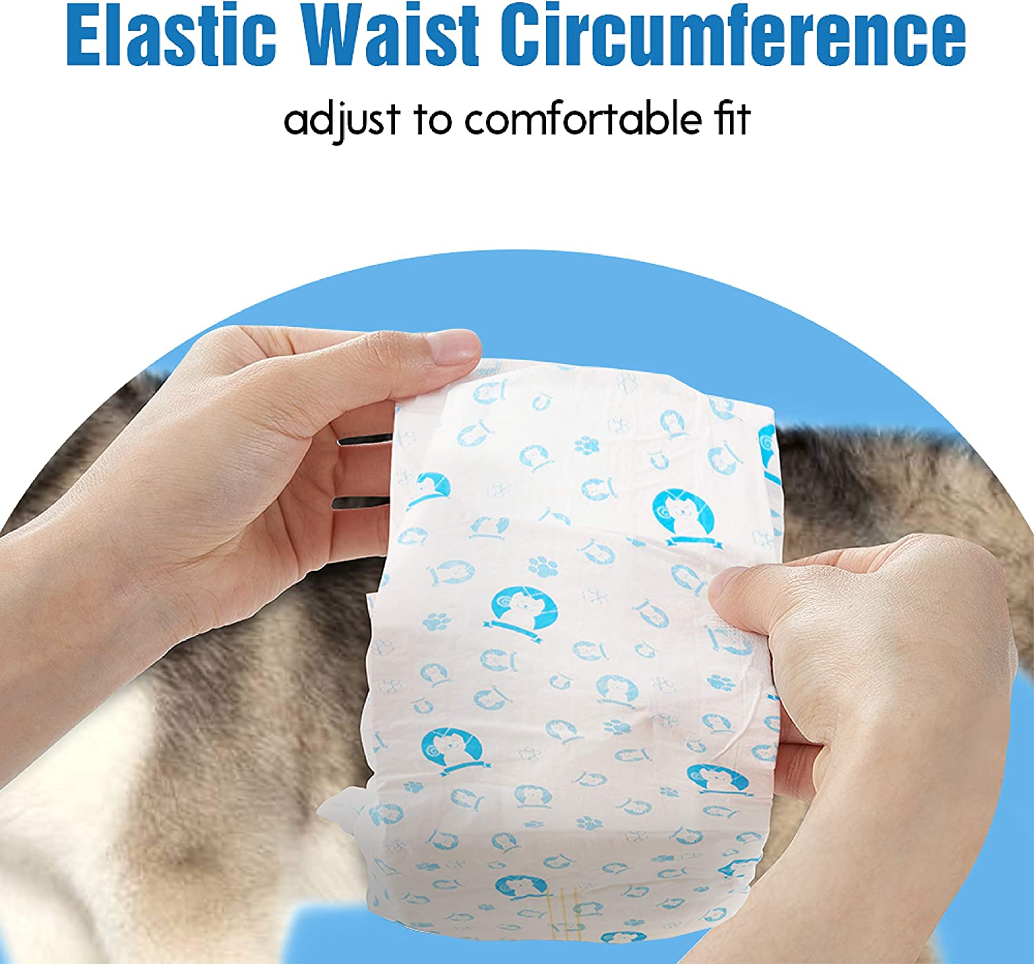Excitable Urination or Incontinence ScratchMe Disposable Male Dog Diaper Small Super Absorbent and Leak-Proof Fit 40 Count