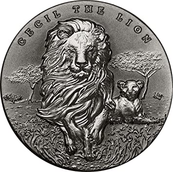 Cecil The Lion Löwe 2 Oz Silber Münze 2000 Francs Cameroon 2018