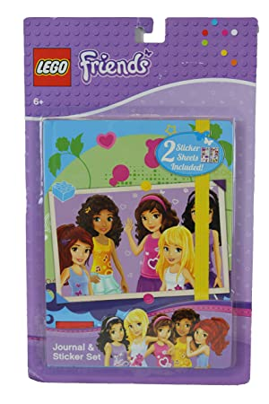 Lego Friends Journal Sticker Set With Group Photo Scrapbook Style