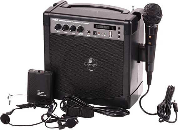 Pyle-Pro Portable Outdoor PA Speaker Amplifier and Microphone System with Bluetooth Wireless Streaming