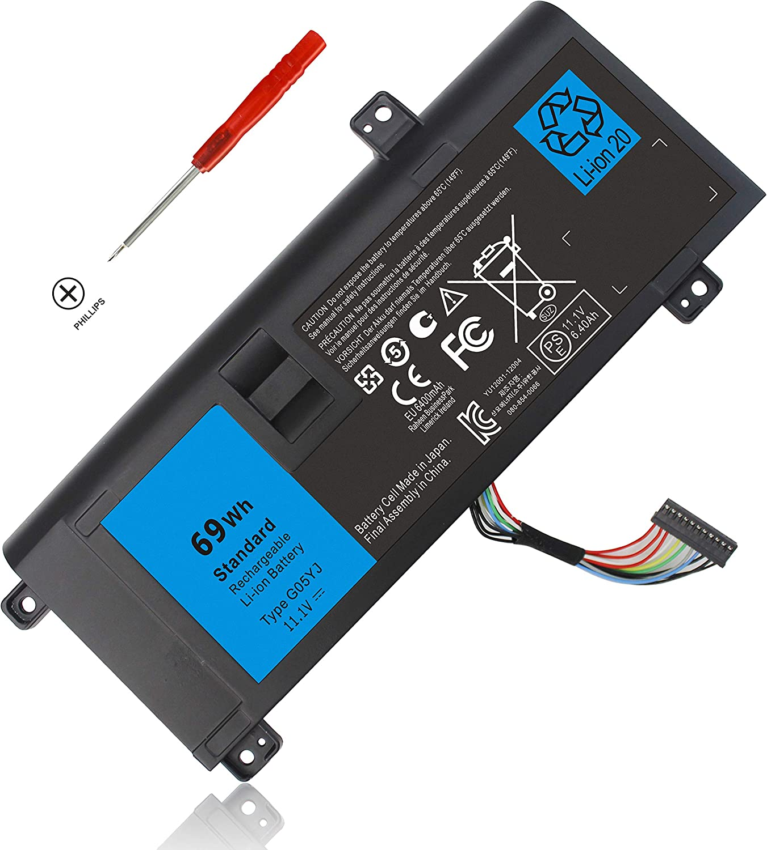 G05YJ Y3PN0 P39G M14X Battery for Dell Alienware 14 A14 R4 R3 ALW14D 14D-1528 ALW14D-1528 ALW14D-5728 ALW14D-4828 ALW14D-5528 14D-5528 14D-4828 14D-5728 14D-4528 1828 2728 4728 1728 5828 0G05YJ 8X70T