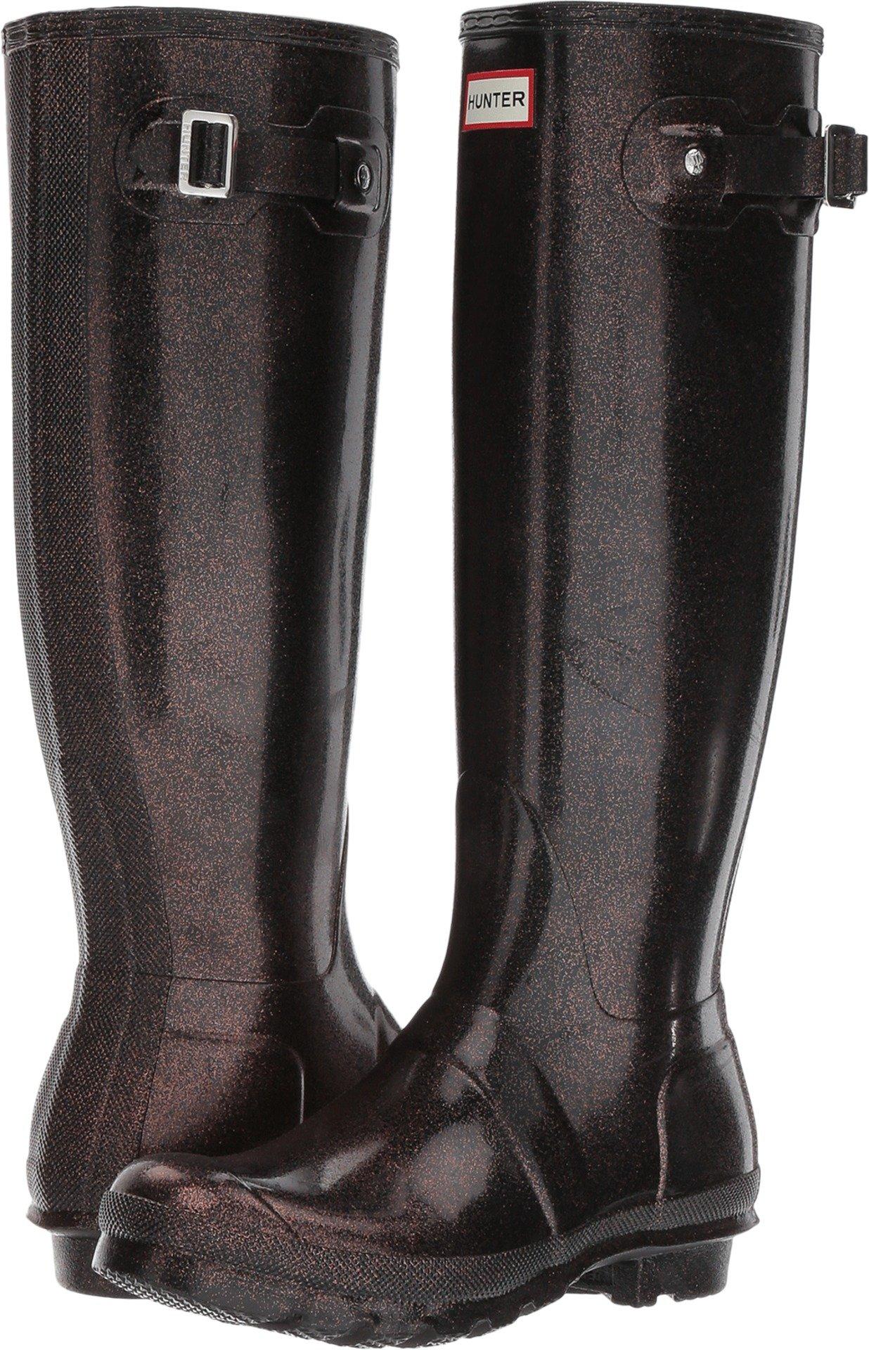 Hunter Boots Women's Original Tall Starcloud Pull On Rain Boot Comet Orng 8 M US