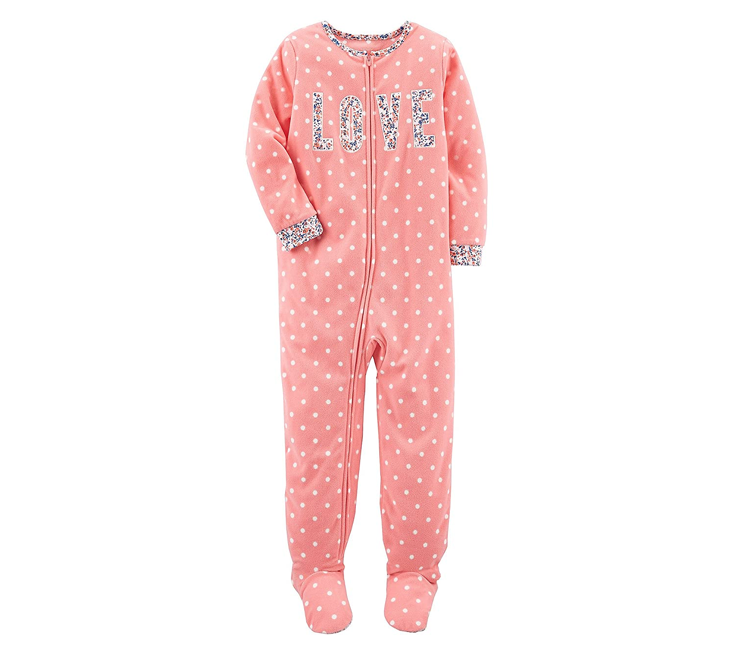 Carter's Girls' 10-14 One Piece Love Fleece Pajamas 397G157