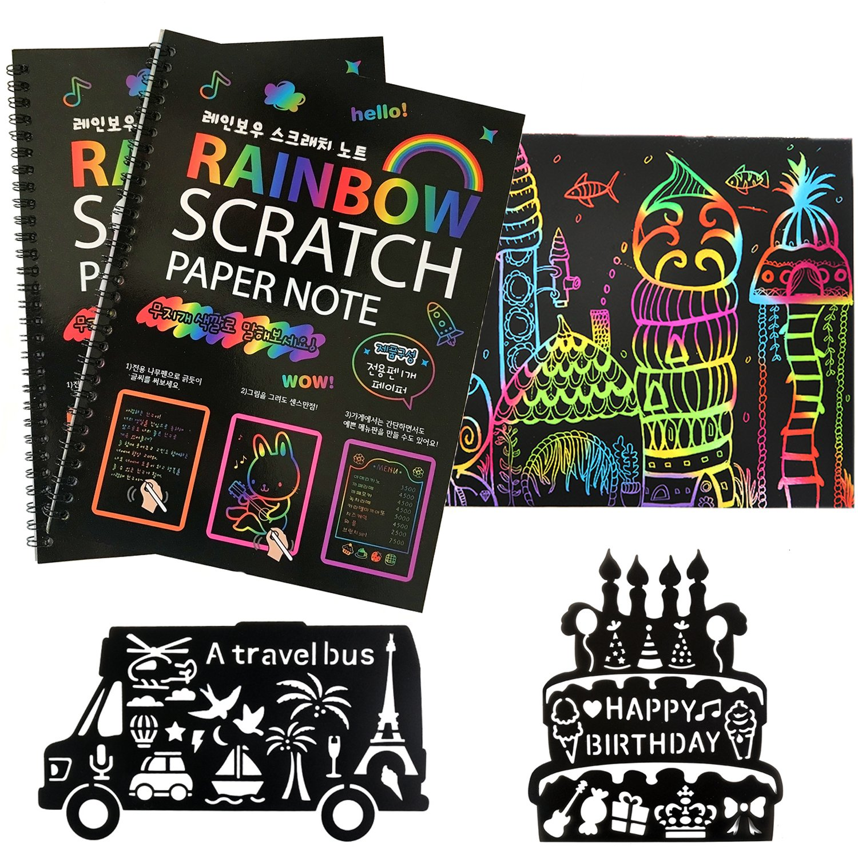 Humars Scratch Art Activity Books for Kids! 20 BIG 10\