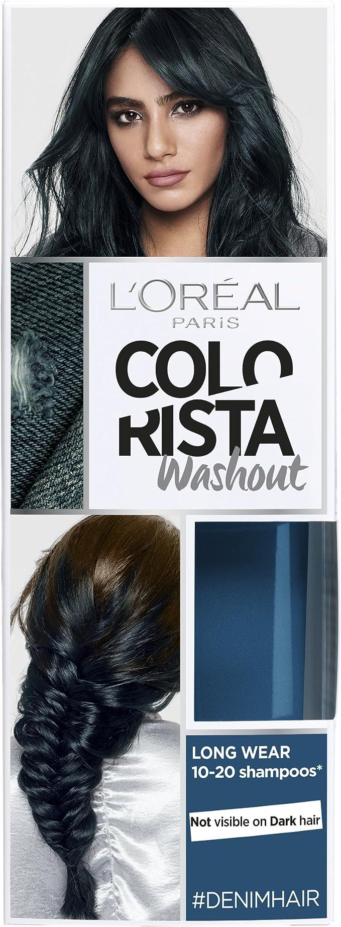 L Oreal colorista lavado Denim azul semipermanente pelo, 80 ml