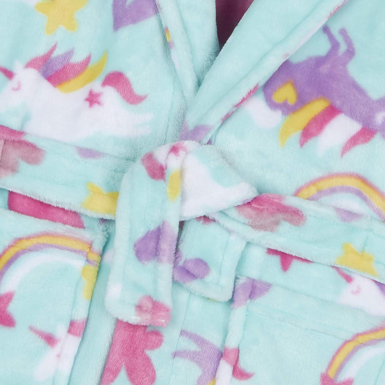 /Anni a 13Y Minikidz Girls Unicorn Vestaglia Viso a Cappuccio Corno e Borsa da 2/