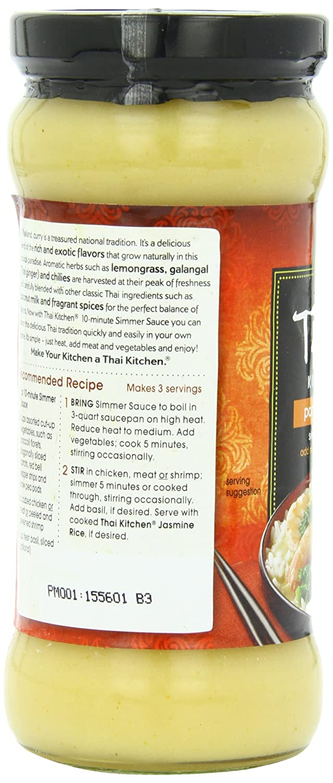 Amazon.com : Thai Kitchen Panang Curry Simmer Sauce, 11.9-Ounce ...