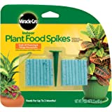 Miracle-Gro Indoor Plant Food Spikes, Includes 48 Spikes - Continuous Feeding for all Flowering and Foliage Houseplants…