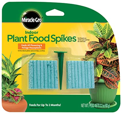 Miracle-Gro Indoor Plant Food Spikes, 48 Spikes